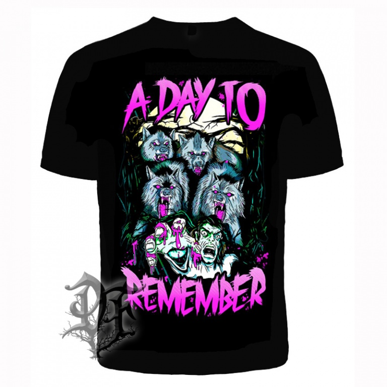 Футболка A Day To Remember волки