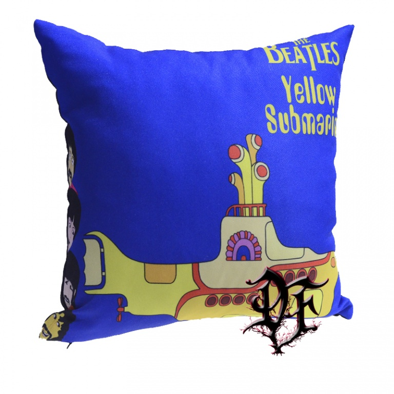 Подушка Beatles yellow submarine