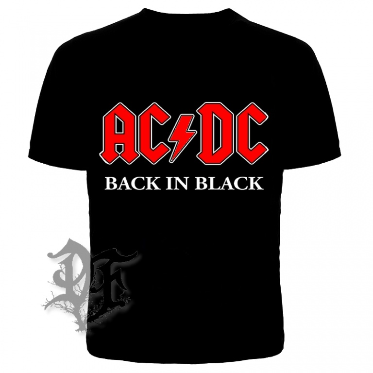 Футболка AC/DC Black in Black
