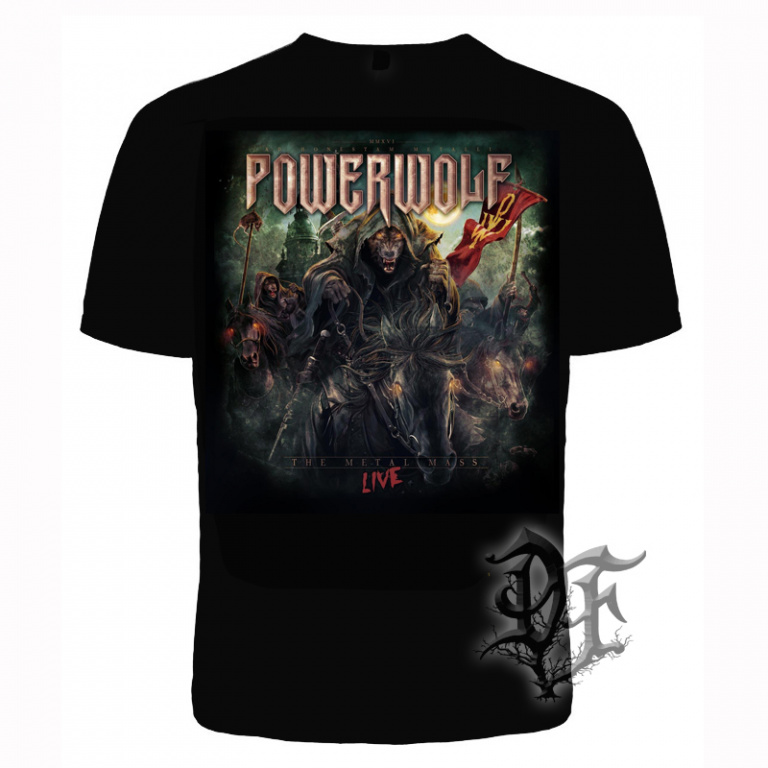 Футболка Powerwolf Wolf The Metal Mass Live