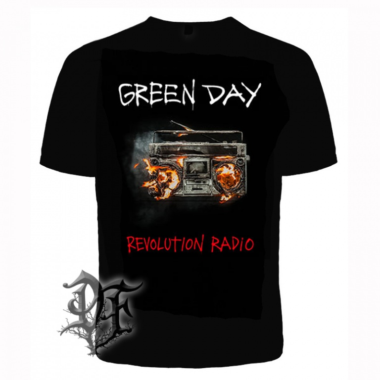 Футболка Green day revolution radio