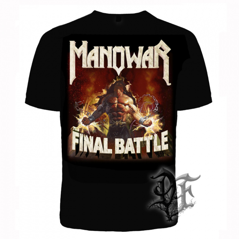 Футболка Manowar final battle